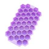 2 PCS 37 Grids Ice Cubes Honeycomb Ice Cream Maker Form DIY Mould Popsicle Molds Yogurt Ice Box Fridge Treats Freezer (Purple)