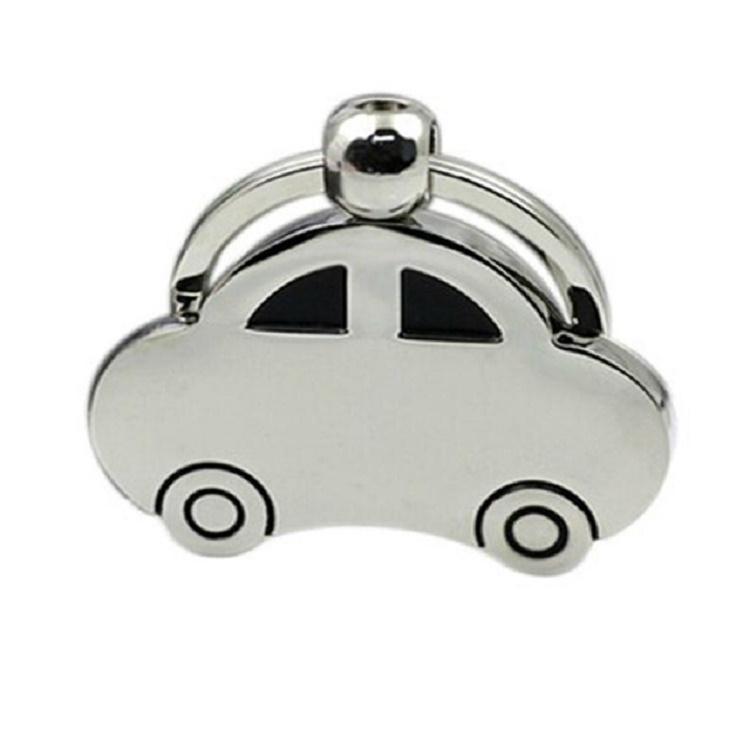 2 PCS Creative Classic Beetle Car Keychain Metal Model Pendant