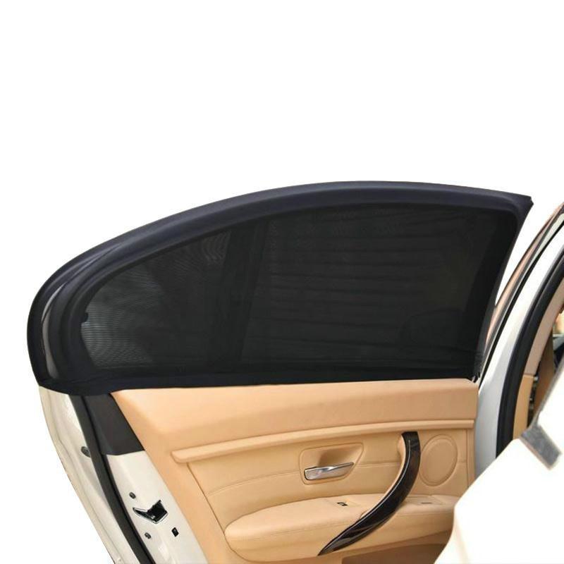 Auto Car Window Mesh Shield Sunshade Visor Net Mosquito Repellent UV Protection Window Covers