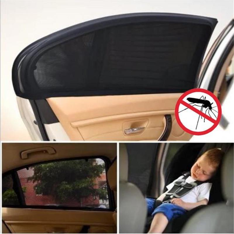 Auto Car Vehicle Window Mesh Shield Sunshade Visor Net UV Protection Anti Mosquito Window Covers, Size: Front window75x50cm