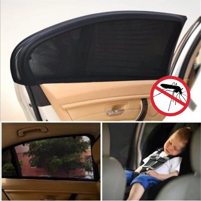 Auto Car Vehicle Window Mesh Shield Sunshade Visor Net UV Protection Anti Mosquito Window Covers, Size: Rear window113x50cm