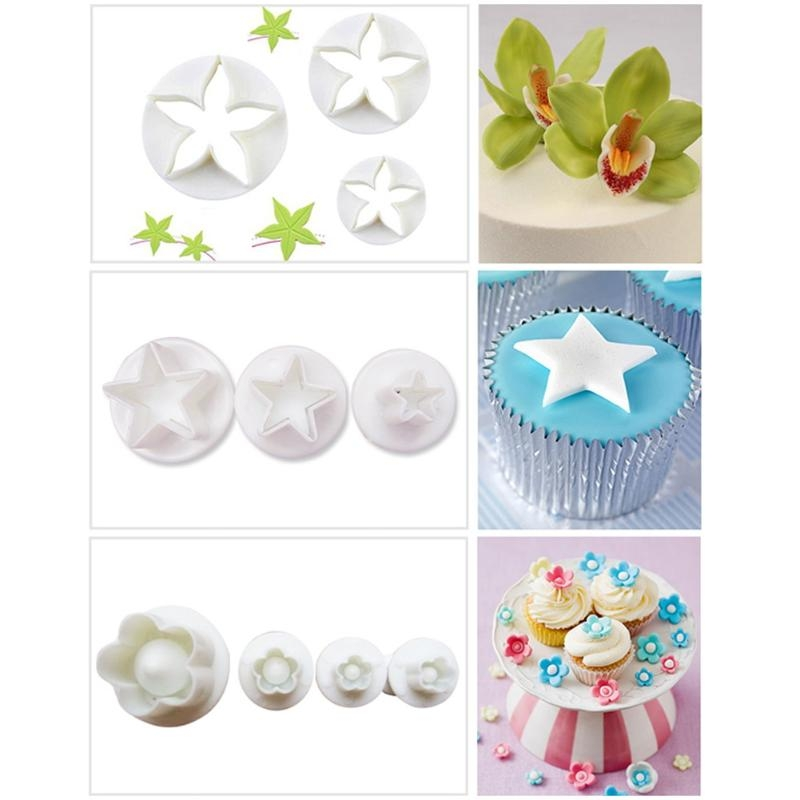 Cake Decorating Tools Fondant Plunger Cutters Biscuit Cake Mold Bakeware Accessories