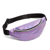 Multi-function Punk Bag Laser Shoulder Bag Women Waist Bag (Purple)