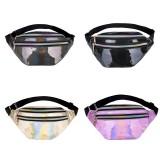 Multi-function Punk Bag Laser Shoulder Bag Women Waist Bag (Purple)