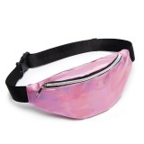 Multi-function Punk Bag Laser Shoulder Bag Women Waist Bag (Pink)
