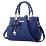 Women Luxury Tote Plum Blossom Bow Sweet Messenger Bag (Royal Blue)