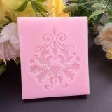 5 PCS European Style Lace Pattern Fondant Silicone Mold DIY Chocolate Cake Decoration Mold Baking Tools (Pink)