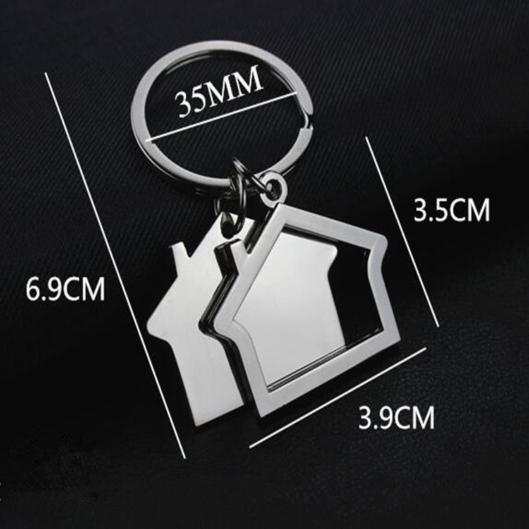 2 PCS Creative House Keychain Cottage Small Gift Pendant