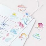 2 PCS Good Weather Boxed Sticker Handbook Photo Album Decoration
