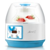 Yogurt Machine Household Automatic Glass Liner Multifunction Rice Wine Maker (Blue White)