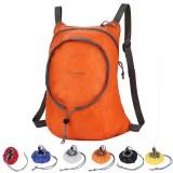 Nylon Waterproof Collapsible Backpack Women Men Travel Portable Comfort Lightweight Storage Folding Bag (Black)