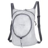 Nylon Waterproof Collapsible Backpack Women Men Travel Portable Comfort Lightweight Storage Folding Bag (White)