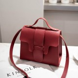 Casual Leather Crossbody Bags for Women PU Leather Handbags Tote Shoulder Bags Messenger (Red)