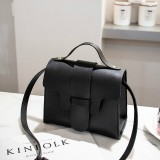 Casual Leather Crossbody Bags for Women PU Leather Handbags Tote Shoulder Bags Messenger (Black)
