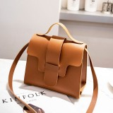 Casual Leather Crossbody Bags for Women PU Leather Handbags Tote Shoulder Bags Messenger (Brown)