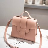Casual Leather Crossbody Bags for Women PU Leather Handbags Tote Shoulder Bags Messenger (Pink)