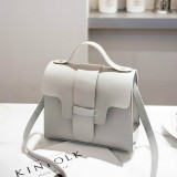 Casual Leather Crossbody Bags for Women PU Leather Handbags Tote Shoulder Bags Messenger (Gray)