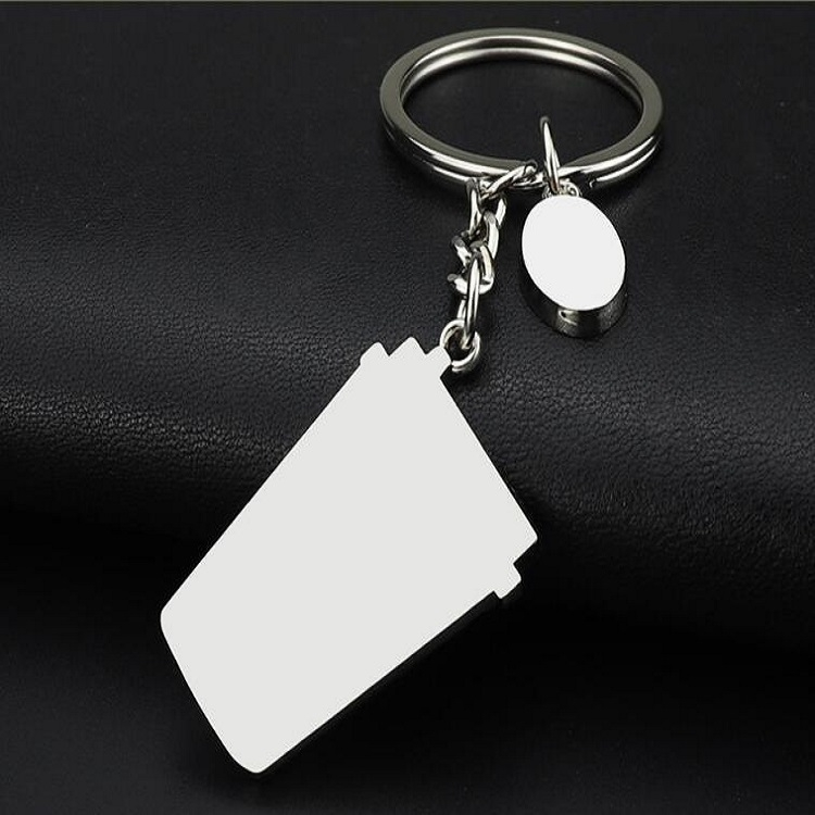 2 PCS Coffee Cup Keychain Creative Metal Pendant Small Gift