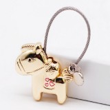 Couple Keychain with Magnet Creative Metal Small Gift Car Bag Pendant (Light Gold)