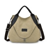 Simple Women Bag Large Capacity Bag Travel Hand Bags for Women Female Handbag Designers Shoulder Bag (khaki)