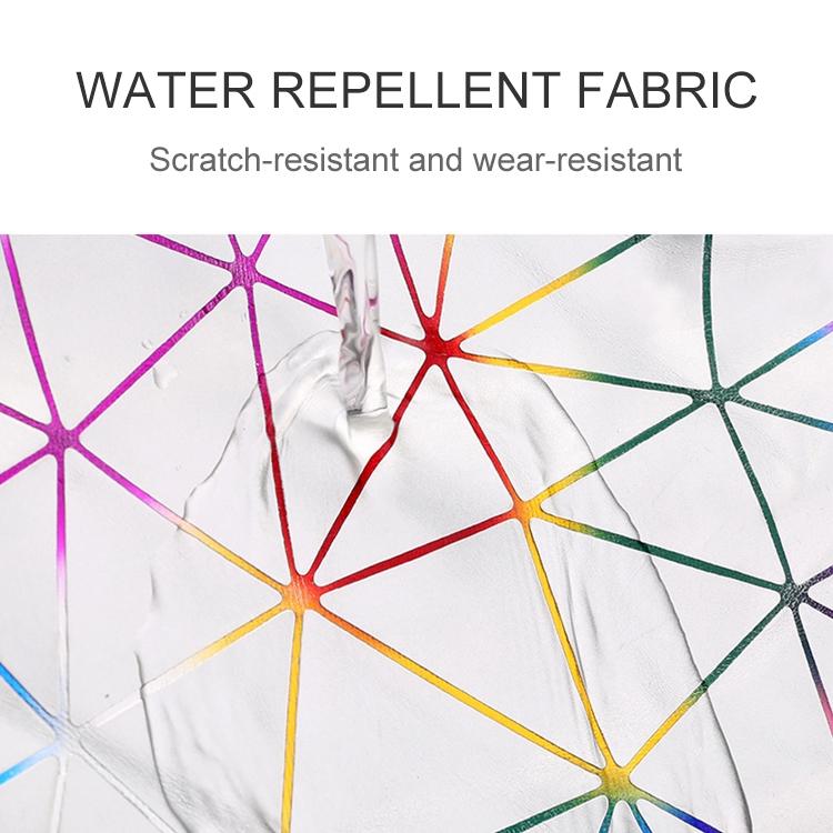 Laser Pattern PU Leather Waist Bags Women Fanny Pack Single Shoulder Bag (Pink)