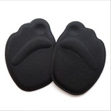 10 Pairs 4D Forefoot Insole High Heel Soft Insole Foot Protection Pads (Balck)