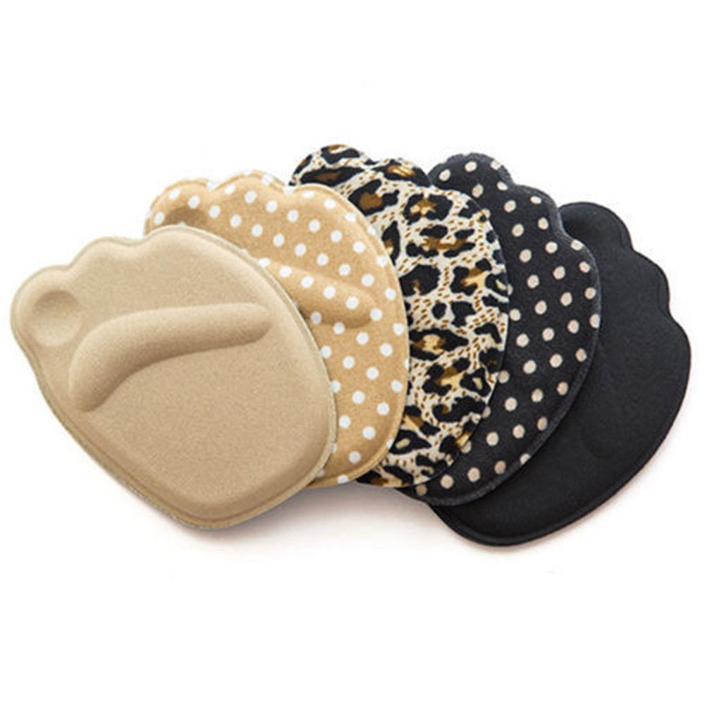 10 Pairs 4D Forefoot Insole High Heel Soft Insole Foot Protection Pads (Leopard)