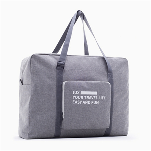 Folding Women Travel Bag Unisex Luggage Travel Handbags WaterProof Travel Bag Large Capacity Bag (Grey)