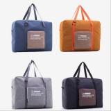 Folding Women Travel Bag Unisex Luggage Travel Handbags WaterProof Travel Bag Large Capacity Bag (Grey)
