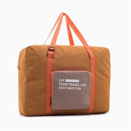 Folding Women Travel Bag Unisex Luggage Travel Handbags WaterProof Travel Bag Large Capacity Bag (Orange)