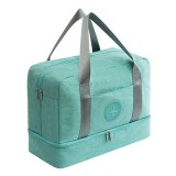 Waterproof Large Capacity Double Layer Beach Bag Portable Sports Bags Cube Bags Travel Bags (Tiffany Blue)