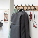 Fashion Wooden Free Punching Hook Coat Rack Hanger Hook for Bedroom Living Room or Wardrobe, Size: 5 Hooks