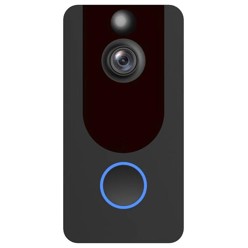 V7 Standard Edition 1080P Full HD Weather Resistant WiFi Security Home Monitor Intercom Smart Phone Video Doorbell, Support Two-way Audio, PIR Motion Detection, Night Vision