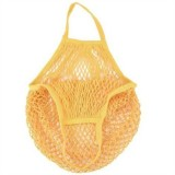 2 PCS Mesh Shopping Bag Reusable String Fruit Storage Handbag Totes Women Shopping Mesh Net Woven Bag Shop Grocery Tote Bag (Yellow)