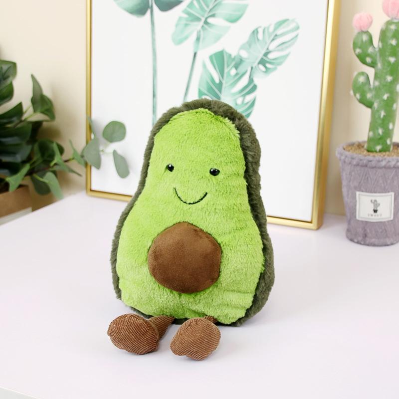 Cute Cartoon Avocado Plush Pillow Toy 22~45Cm Avocado With Feet Children Fruit Avocado Stuffed Plush Pillow Toy Gift for Child (A-22cm)