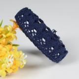 5 PCS Cotton Lace Fabric White Crochet Lace Roll Ribbon Knit Adhesive Tape Sticker Craft Decoration Stationery Supplies (Black)