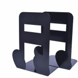 2 PCS Book Bezel Book Metal Book Stand Bookmark Note Book Stand (Black Sixteen Points)