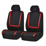 Universal Car Seat Cover Polyester Fabric Automobile Seat Covers Car Seat Cover Vehicle Seat Protector Interior Accessories 4pcs Set Red
