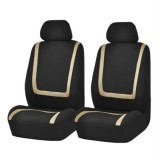 Universal Car Seat Cover Polyester Fabric Automobile Seat Covers Car Seat Cover Vehicle Seat Protector Interior Accessories 4pcs Set Beige
