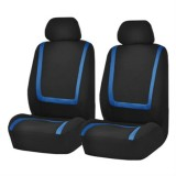 Universal Car Seat Cover Polyester Fabric Automobile Seat Covers Car Seat Cover Vehicle Seat Protector Interior Accessories 4pcs Set Blue