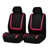 Universal Car Seat Cover Polyester Fabric Automobile Seat Covers Car Seat Cover Vehicle Seat Protector Interior Accessories 4pcs Set Pink