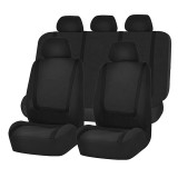 Universal Car Seat Cover Polyester Fabric Automobile Seat Covers Car Seat Cover Vehicle Seat Protector Interior Accessories 9pcs Set Black