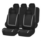 Universal Car Seat Cover Polyester Fabric Automobile Seat Covers Car Seat Cover Vehicle Seat Protector Interior Accessories 9pcs Set Gray