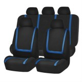 Universal Car Seat Cover Polyester Fabric Automobile Seat Covers Car Seat Cover Vehicle Seat Protector Interior Accessories 9pcs Set Blue