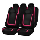 Universal Car Seat Cover Polyester Fabric Automobile Seat Covers Car Seat Cover Vehicle Seat Protector Interior Accessories 9pcs Set Pink