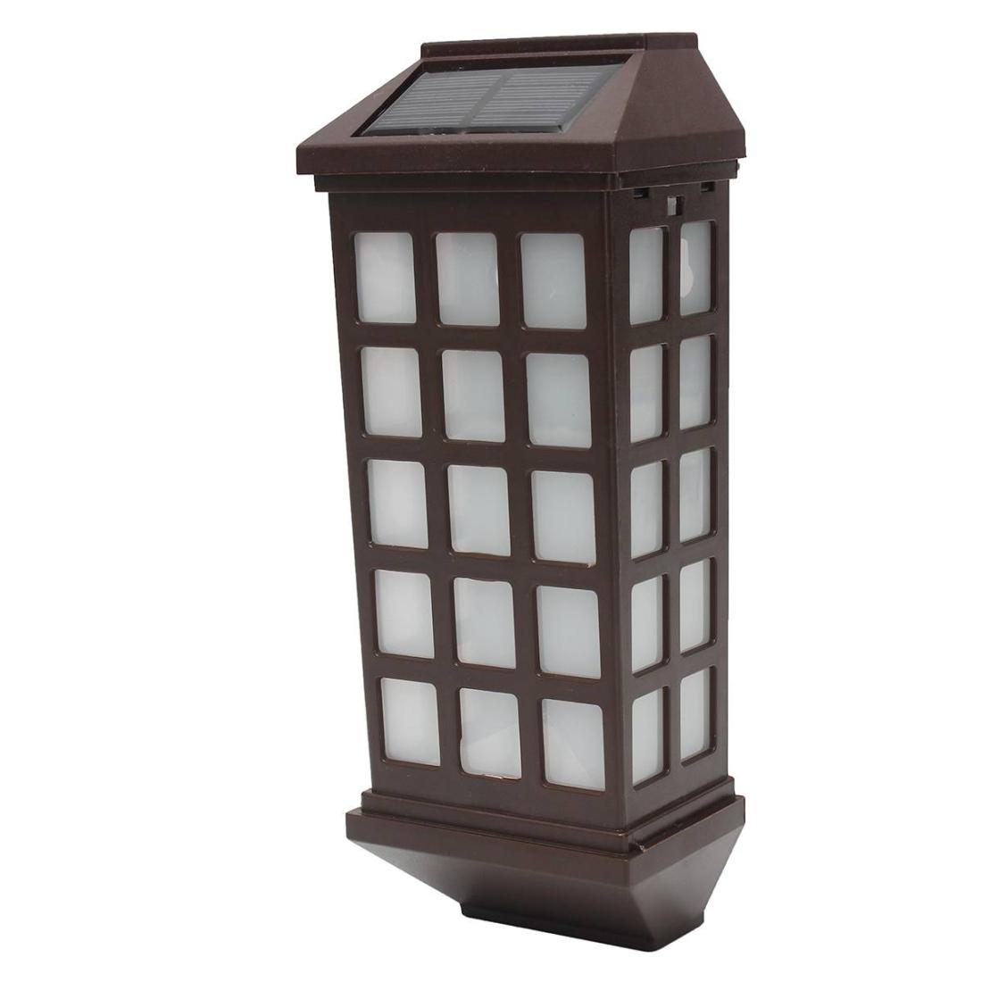 Extended Outdoor Solar Wall Lamp IP65 Waterproof Courtyard Garden Villa Wall Fence Stair Light (Warm White)