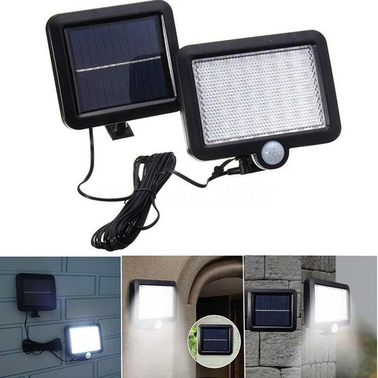 56 LEDs SMD 2835 180LM Solar Powered IP65 Waterproof Infrared Sensor LED Wall Light Garden Light