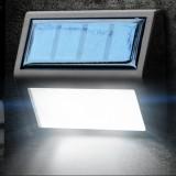 6 LEDs Outdoor IP65 Waterproof Garden Lamp LED Solar Power Light Sensor Emergency Wall Light (White Light)
