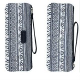 Ethnic Style Vintage Pencil Case School Supplies Stationery Pencilcase Cute Pencil Box Pencil Bag (Azure pencil case)
