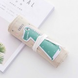 3 PCS Kawaii Animals Pattern Pencil Case Pencil Case Cute Candy Color Pencil Bag Kids School Office Stationery Supplies (Baby Crocodile)